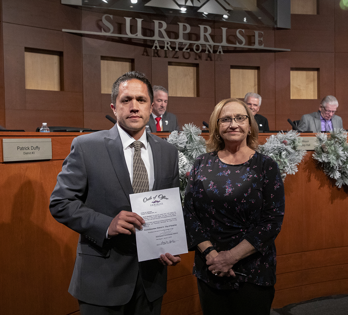 The Surprise City Council appointed David Sanders to serve as the new District 5 Councilmember at the January 3 City Council Meeting