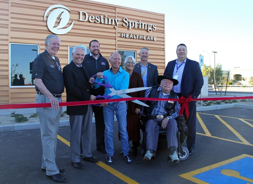 City Council pictured with Destiny Springs owner Dr. Martin Newman and CEO Burton Carriker