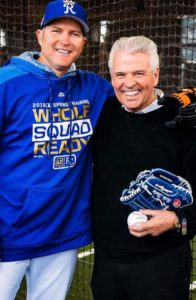 Mayor Hall pictured with Royals special assistant Mike Sweeney