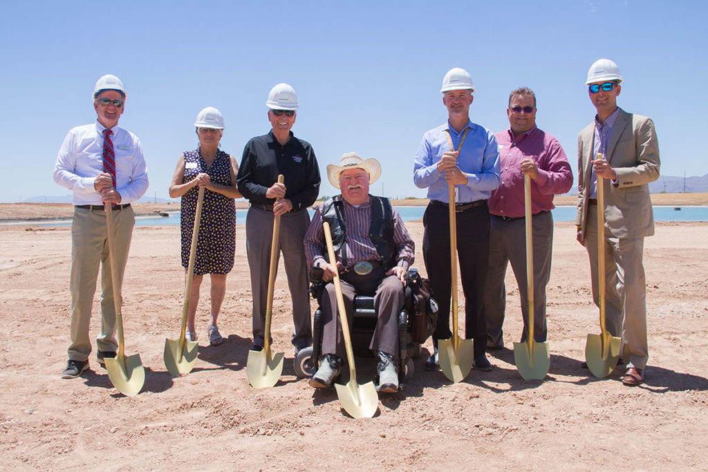 Councilmembers attend the ground breaking ceremony in Asante