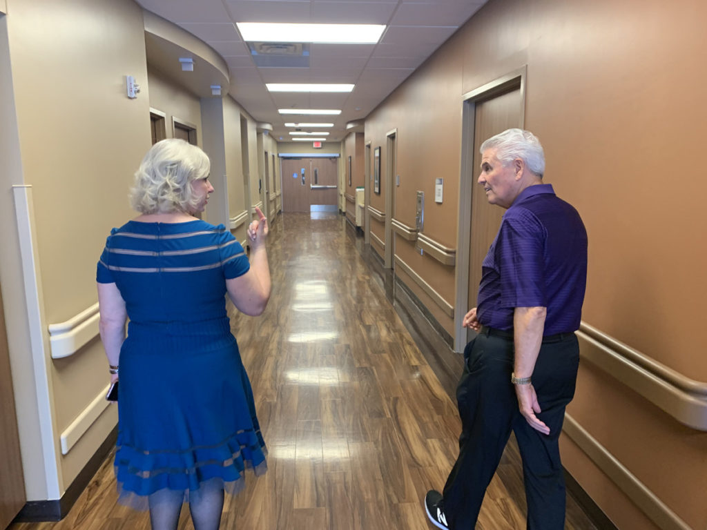 Mayor Hall tours the Cobalt Rehabilitation Hospital in Surprise.