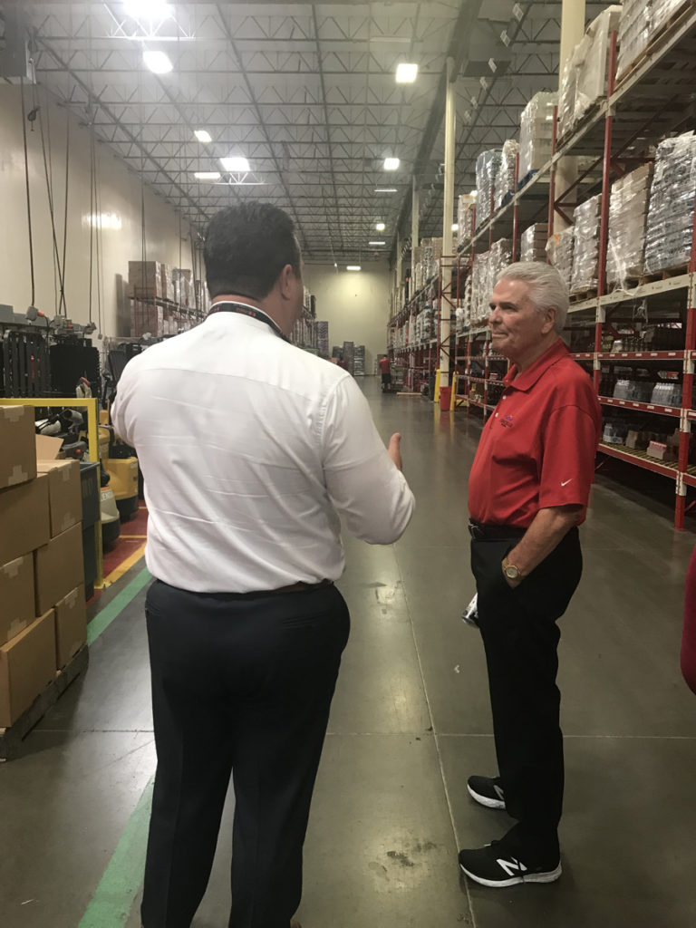 Mayor Hall tours the Swire Coca-Cola Distribution Factory in Glendale.