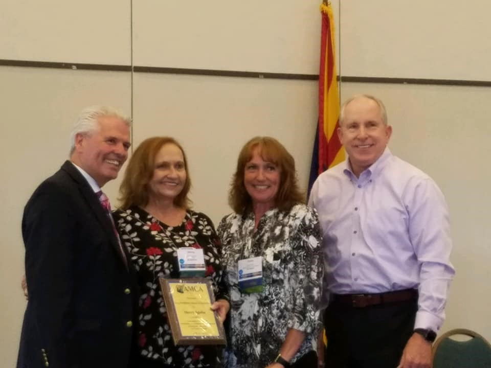 Surprise City Clerk Sherry Aguilar receives the President's Award of Distinction.