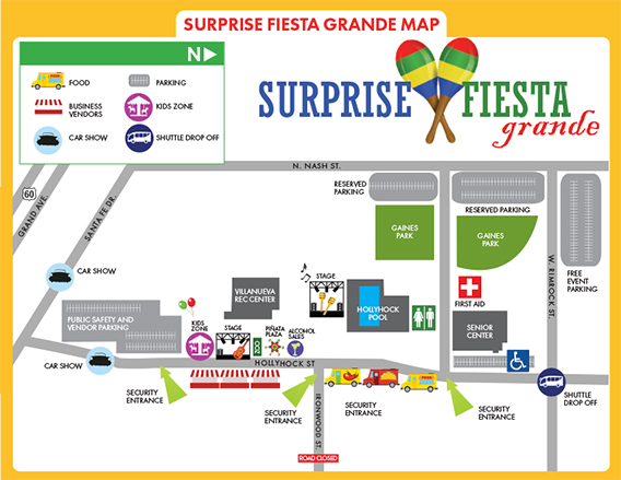 Fiesta Grande event map.