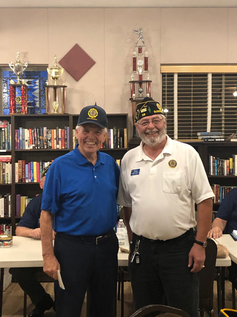 Mayor Hall and Mike Elliott from American Legion Post 96.