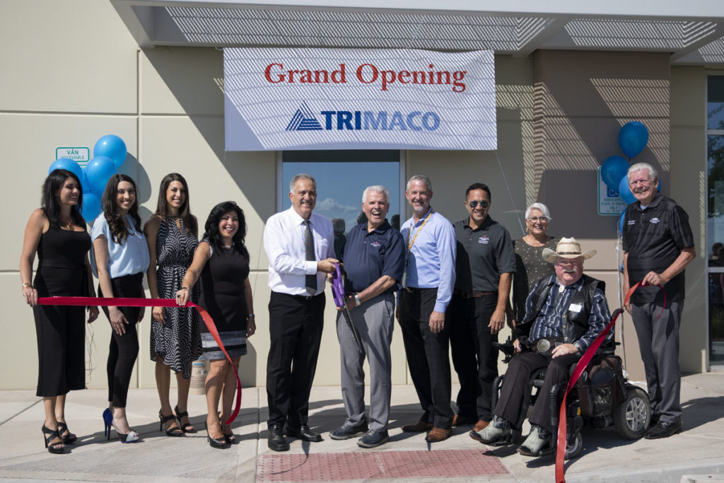 Mayor Hall and Councilmembers attent the Trimaco ribbon cutting event.
