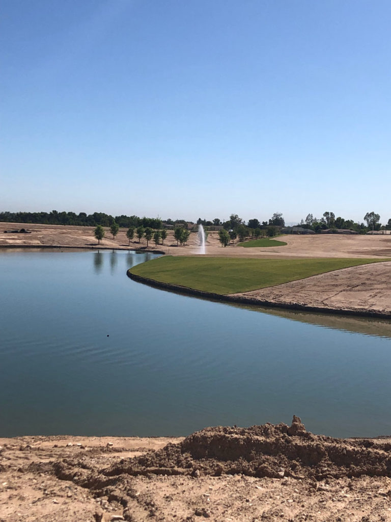 The golf course lake at the new Toll Brothers gated community, Sterling Grove.