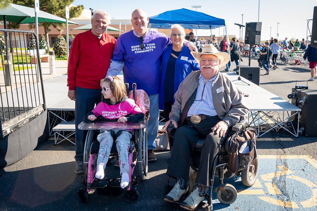 Mayor Hall, Councilmember Hayden and Vice Mayor Winters with residents at Dreamcatcher park.