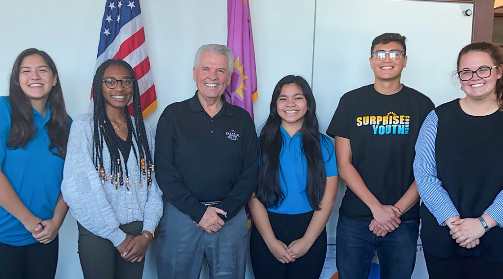 Mayor Hall and the Surprise Youth Council.